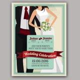 Progettazione dell'invito di nozze Fotografie Stock