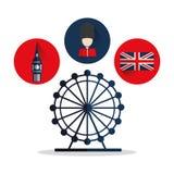Progettazione dell'occhio e del soldat della bandiera di Big Ben Fotografie Stock