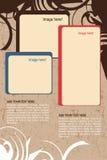 Progettazione dell'opuscolo Immagine Stock