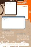 Progettazione dell'opuscolo Fotografie Stock