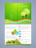 Progettazione dell'opuscolo, dell'aletta di filatoio o del modello di affari Immagine Stock