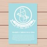 Progettazione dell'opuscolo di Natale per uso Fotografie Stock