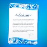 Progettazione dell'opuscolo di vettore dell'ornamento floreale Immagine Stock