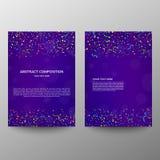 Progettazione a4 dell'opuscolo insegna di informazioni Un insieme della pagina Pagina moderna Flangia dell'annuncio celebrazione  fotografie stock