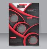 Progettazione dell'opuscolo Modello dell'aletta di filatoio Manifesto editabile A4 Fotografie Stock Libere da Diritti