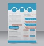 Progettazione dell'opuscolo Modello dell'aletta di filatoio Manifesto editabile A4 Immagine Stock