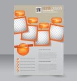 Progettazione dell'opuscolo Modello dell'aletta di filatoio Manifesto editabile A4 Immagini Stock