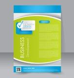Progettazione dell'opuscolo Modello dell'aletta di filatoio Manifesto editabile A4 Fotografia Stock Libera da Diritti