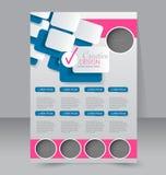 Progettazione dell'opuscolo Modello dell'aletta di filatoio Manifesto editabile A4 Immagine Stock Libera da Diritti