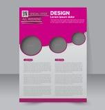 Progettazione dell'opuscolo Modello dell'aletta di filatoio Manifesto editabile A4 Fotografia Stock