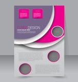 Progettazione dell'opuscolo Modello dell'aletta di filatoio Manifesto editabile A4 Fotografie Stock
