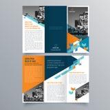 Progettazione dell'opuscolo, modello dell'opuscolo illustrazione di stock