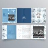 Progettazione dell'opuscolo, modello dell'opuscolo, ripiegabile creativo, opuscolo di tendenza illustrazione di stock