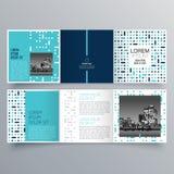 Progettazione dell'opuscolo, modello dell'opuscolo, ripiegabile creativo, opuscolo di tendenza illustrazione vettoriale