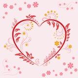Progettazione dell'ornamento floreale Immagine Stock