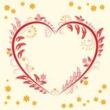Progettazione dell'ornamento floreale Fotografia Stock
