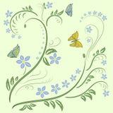 Progettazione dell'ornamento floreale Immagini Stock