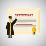 Progettazione dell'università illustrazione di istruzione e di graduazione Fotografia Stock Libera da Diritti