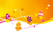 Progettazione dell'uovo di Pasqua Fotografie Stock Libere da Diritti
