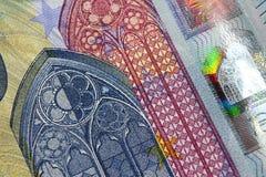 progettazione della banconota dell'euro 20 nuova Fotografie Stock
