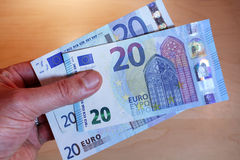 progettazione della banconota dell'euro 20 nuova Immagini Stock Libere da Diritti