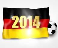 Progettazione 2014 della bandiera di calcio di calcio della Germania Immagine Stock Libera da Diritti