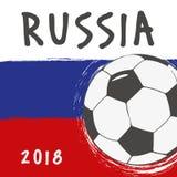 Progettazione della bandiera per la coppa del Mondo Russia Fotografie Stock