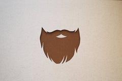 Progettazione della barba dei pantaloni a vita bassa immagine stock