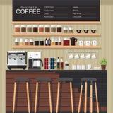 Progettazione della caffetteria Fotografia Stock