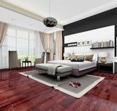 progettazione della camera da letto 3d immagine stock