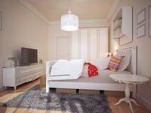 Progettazione della camera da letto di art deco Immagine Stock Libera da Diritti