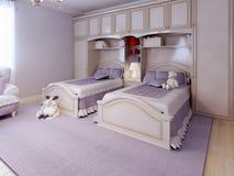 Progettazione della camera da letto di art deco royalty illustrazione gratis