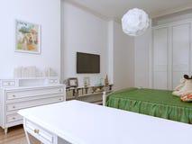 Progettazione della camera da letto di Provende Fotografia Stock
