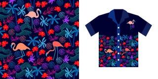 Progettazione della camicia hawaiana Fotografie Stock