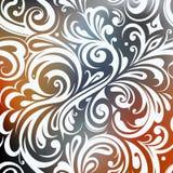 Progettazione della cartolina d'auguri con l'ornamento floreale illustrazione di stock