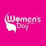 Progettazione della cartolina d'auguri del giorno delle donne Immagini Stock