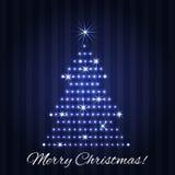 Progettazione della cartolina d'auguri dell'albero di Natale Immagine Stock