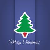 Progettazione della cartolina d'auguri dell'albero di Natale Immagini Stock