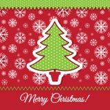 Progettazione della cartolina d'auguri dell'albero di Natale Fotografia Stock Libera da Diritti