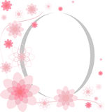 Progettazione della cartolina d'auguri delle pagine del fiore Immagine Stock Libera da Diritti