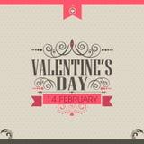Progettazione della cartolina d'auguri di celebrazione di San Valentino Immagini Stock Libere da Diritti