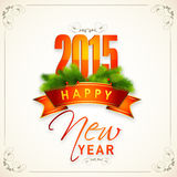 Progettazione della cartolina d'auguri di celebrazioni del buon anno 2015 Fotografia Stock Libera da Diritti