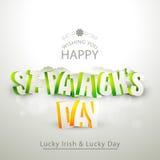 Progettazione della cartolina d'auguri per la celebrazione del giorno di St Patrick Fotografie Stock Libere da Diritti