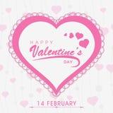 Progettazione della cartolina d'auguri per la celebrazione di San Valentino Immagine Stock