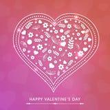 Progettazione della cartolina d'auguri per la celebrazione felice di giorno di biglietti di S. Valentino Immagini Stock Libere da Diritti