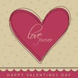 Progettazione della cartolina d'auguri per le celebrazioni felici di San Valentino Immagine Stock