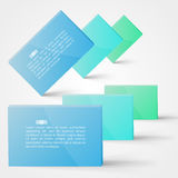progettazione della casella di testo 3d Fotografia Stock Libera da Diritti