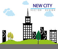 Progettazione della città Fotografia Stock