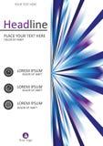 Progettazione della copertina di libro nella dimensione A4 Vettore Immagini Stock