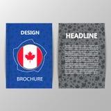 Progettazione della copertura con una foglia di acero Segno del Canada Fotografia Stock Libera da Diritti
